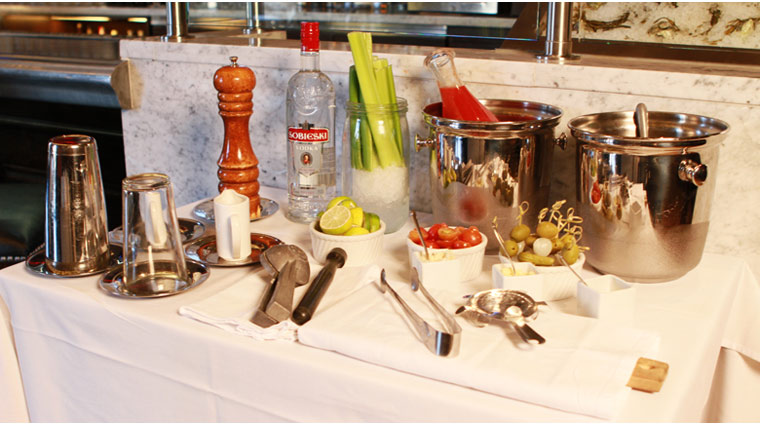 Morels French Steakhouse & Bistro Bloody Mary Cart