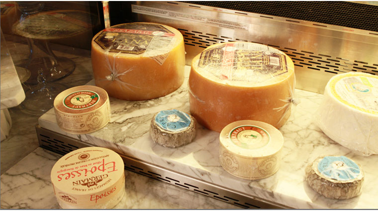 Morels French Steakhouse & Bistro Cheese Display