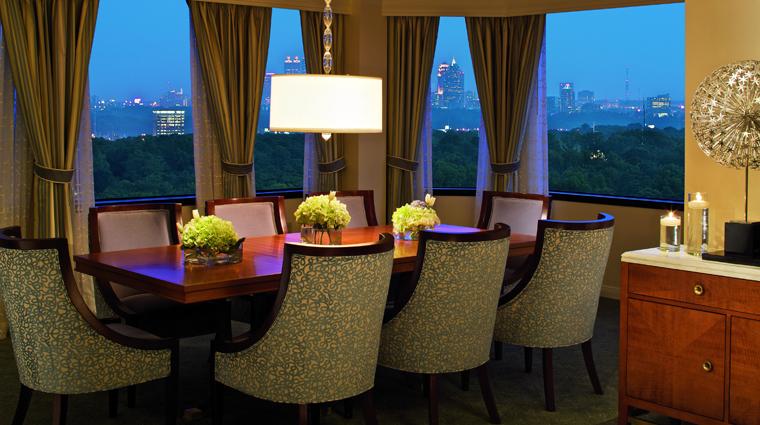 The Ritz-Carlton, Buckhead Presidential Suite Dining Room