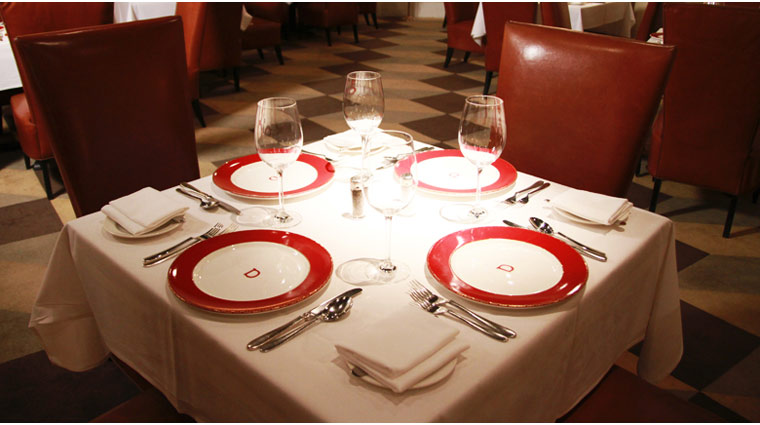Delmonico Steakhouse Place Settings