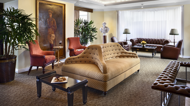 Windsor Court Hotel Polo Lounge Sitting Area