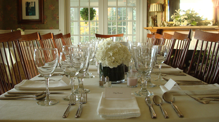 Blair Hill Inn Table Setting