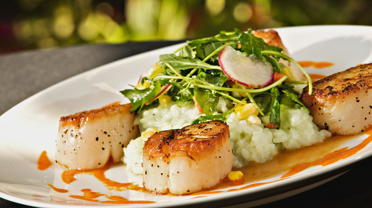 Carolina Crossroads Restaurant Scallop Entrée