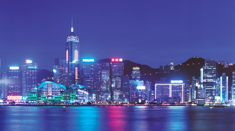 Conrad Hong Kong Hotel Skyline at Night