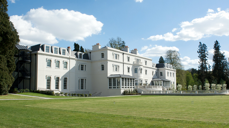 Exterior from Croquet Lawn