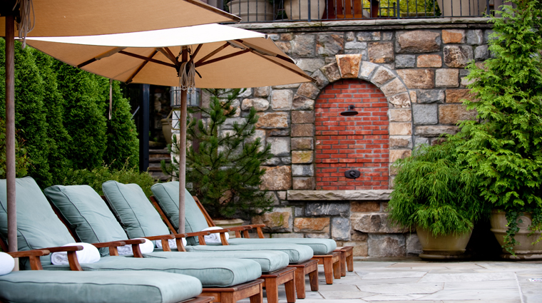 The Spa at Old Edwards Lounge Chairs by the Outdoor Heated Mineral Pool