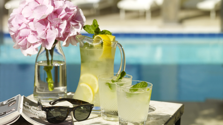 The Berkeley Health Club and Spa Poolside Refreshments