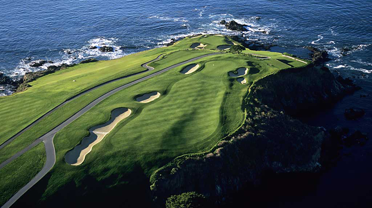 The Lodge at Pebble Beach Aerial View of Golf Course