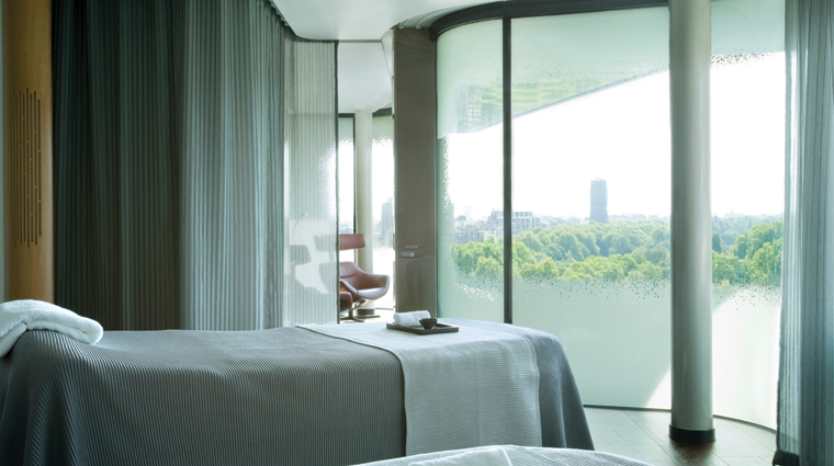 The Spa at the Four Seasons Hotel London at Park Lane View from Spa Sky Suite