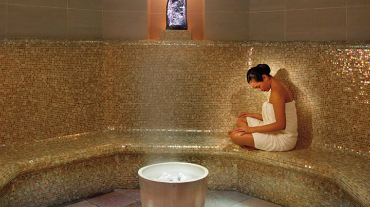The Spa at Mandarin Oriental New York Amethyst Crystal Steam Room