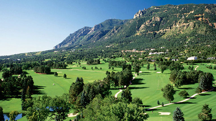 The Broadmoor Golf Course Aerial View