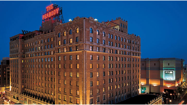 The Peabody Memphis Building Exterior