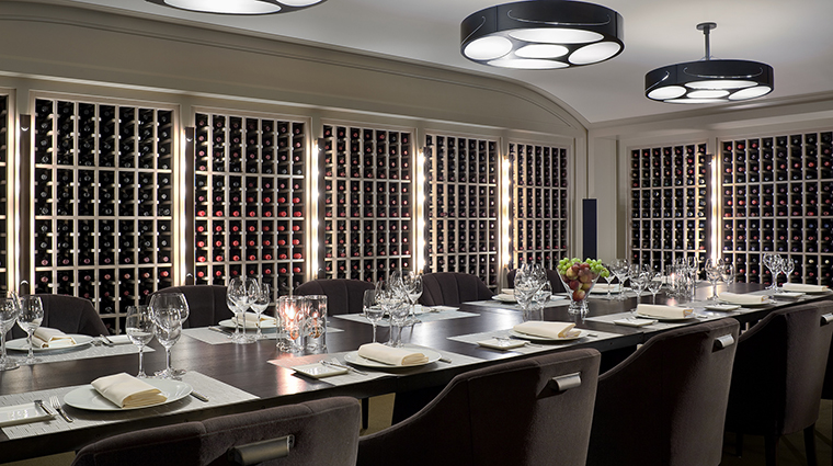 The wine cellar at The Dining Room