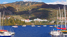 Mont Tremblant Lake and Village in Autumn