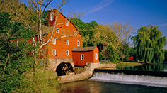 Old Red Mill in Clinton, New Jersey