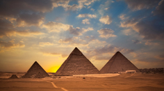 Sunset at Pyramids