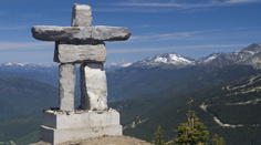 An Inukshuck on Mt. Whistler