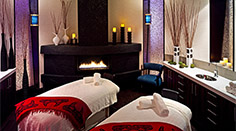 T Spa Couples Treatment Room with a Fireplace