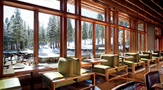 Manzanita Restaurant Dining Room View of Sierra Mountains