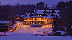 Lake Placid Lodge at Night