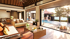 Two bed villa lounge